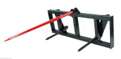 Hay Spear Attachment for Global Euro Carrier Quick Attach Loaders tractor Deere