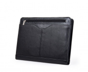 Executive Leather Organiser Portfolio Case for A4 Letter-Size Paper, Black