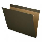 Pendaflex X-ray Size Reinforced Hanging File Folders, 14x18, No Tab, Green, 25 Per Box,