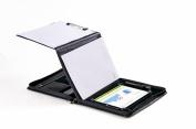 Executive Leather Padfolio with Folding Centre Panel, for Microsoft Surface Pro 3, 28cm Laptop XZ-1172-MSP3-Black