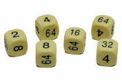 16mm spare Cream Urea doubling dice for backgammon x 2