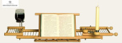 Redecker Beechwood Extendable Bath Tub Shelf Rack Tray with Book, Glass & Candle Holder