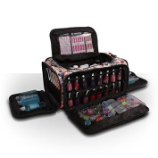 Roo Beauty Bags, Beautcians and Manicurist Makeup Tool Bag, Professional Cosmetics Case in Glamour Design - Nail Print
