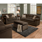 Simmons Upholstery Lakewood Cappuccino Loveseat