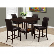 Brown Faux Leather Counter Height Stools