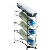San Jamar C8504WF Wireworks 3 Tier Cup Dispenser with Lid Tray and Side Panels