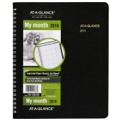AT-A-GLANCE Monthly Planner 2016, 12 Months, 17cm x 22cm Page Size, Black