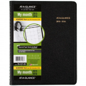 AT-A-GLANCE Monthly Planner, Academic, 18 Months, July 2015-December 2016, 17cm x 22cm Page Size