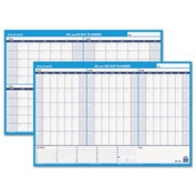 90/120-Day Undated Horizontal Erasable Wall Planner 36 X 24 White/blue By