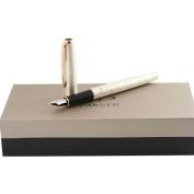 Parker Sonnet Pearl Chiselled Medium Fountain Pen