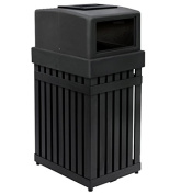 ArchTec Series 94.6lParkview 1 Single Trash Receptacle with Ashtray