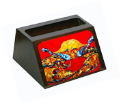 Crab Fat and Sassy Decorative Desktop Professional Wooden Business Card Holder MW1115BCH
