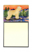 Wheaten Terrier Soft Coated Refiillable Sticky Note Holder or Postit Note Dispenser SS8182SN