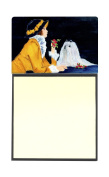 Lady with her Maltese Refiillable Sticky Note Holder or Postit Note Dispenser SS8537SN