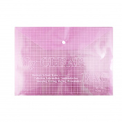 Soft Plastic Document Paper Files Store Bag Clear Pink