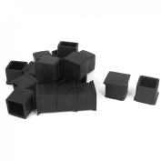 20mm x 20mm Rubber Furniture Chair Leg Tip Cap Foot Cover Holder Protector 18pcs
