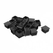25mmx25mm Plastic Square Tube Insert End Blanking Cover Cap 20pcs