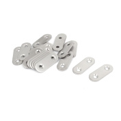 20pcs 40mm Stainless Steel Flat Brackets Straight Mending Repair Fixing Plates