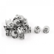 Cabinets Silver Tone Metal Furniture Cam Fittings Connectors 20 Pcs