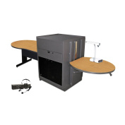 Vizion Media Centre With Keyhole Table Finish