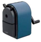 Uni KH-20 Hand Crank Wooden Pencil Sharpener - Blue