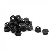 20 Pcs 22mm Insulation Black Plastic Cable Pipe Snap Bushing Harness