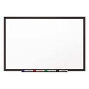 Classic Porcelain Magnetic Whiteboard 96 X 48 Black Aluminium Frame By