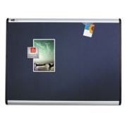 Prestige Plus Magnetic Fabric Bulletin Board 72 X 48 Aluminium Frame By