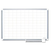 Grid Planning Board 2x3 Grid 72x48 White/silver By