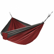 Portable Parachute Hammock Silk Fabric Hanging Outdoor Camping Patio Orange