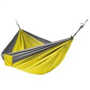 Portable Parachute Hammock Silk Fabric Hanging Outdoor Camping Patio Yellow