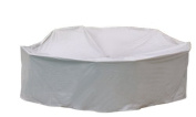 Protective Covers Weatherproof Patio Table and Highback Chair Set Cover, 120cm x 140cm , Round Bar Table, Grey