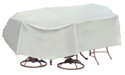 Protective Covers Weatherproof Patio Table and Chair Set Cover, 120cm x 140cm , Round Bar Table, Grey