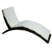 Folding PE Rattan Wicker Patio Chaise Lounge Chair