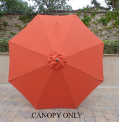 2.7m Umbrella Replacement Canopy 8 Ribs in Orange