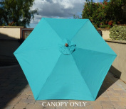 2.7m Umbrella Replacement Canopy 6 Ribs in Turquoise