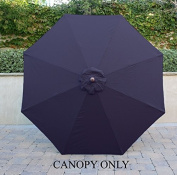 2.7m Umbrella Replacement Canopy 8 Ribs in Navy Blue Olefin