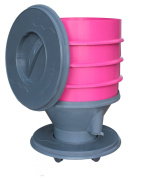 Exaco 610016 Eco Worm Composter on Wheels, 30.3l, Pink