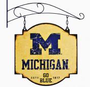 NCAA Michigan Wolverines Men's Vintage Tavern Sign, Small, Multicolor
