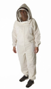 Ultra Breeze Medium Beekeeping Suit with Veil, 1-Unit, White