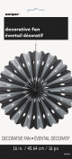 40cm Black and Silver Tissue Paper Fan Decoration