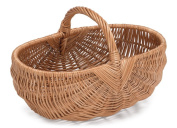 Prestige Wicker Willow Basket with Handle, Natural, 44 x 29 x 24 cm