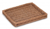 Prestige Wicker Willow Shallow Tray, Natural, 43 x 35 x 5 cm