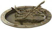 Hummingbird Sundial Birdbath - French Bronze