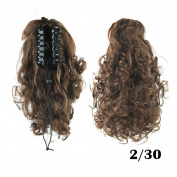 DENIYA Curly Synthetic Clip In Claw Ponytail Hair Extension Synthetic Hairpiece