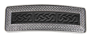 Hair Clip | Barrette | Celtic Braid Leather | Handmade in the USA by Oberon Design