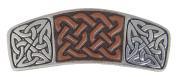 Hair Clip   Barrette   Celtic Knot Leather   Handmade in the USA by Oberon Design