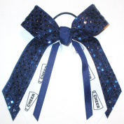 Cheerleading Soft Touch Sequin, Avail in Many Colours, Black Pony Band, Made in the USA