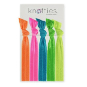Knotties Snag Free Hair Accessories, Neon's, 5 Count