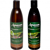 Mill Creek Botanicals Amazon Volumizing Natural 71% Organic Shampoo and Conditioner Bundle With Acai Berry, Lavender, Lemongrass, Witch Hazel, Aloe Vera, Jojoba and Rosemary, 350ml each